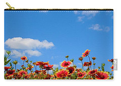 Carry-all Pouch featuring the photograph Wild Red Daisies #6 by Robert ONeil