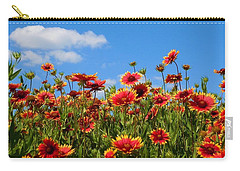 Carry-all Pouch featuring the photograph Wild Red Daisies #7 by Robert ONeil