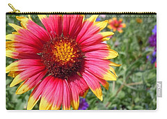 Carry-all Pouch featuring the photograph Wild Red Daisy #1 by Robert ONeil