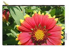 Carry-all Pouch featuring the photograph Wild Red Daisy #2 by Robert ONeil