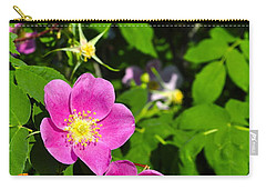 Carry-all Pouch featuring the photograph Wild Roses by Cathy Mahnke