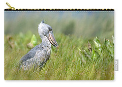 Carry-all Pouch featuring the photograph Wild Shoebill Balaeniceps Rex  by Liz Leyden