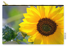 Carry-all Pouch featuring the photograph Wild Sunflower by Nadalyn Larsen