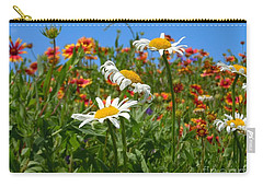Carry-all Pouch featuring the photograph Wild White Daisies #1 by Robert ONeil