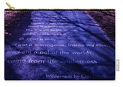 Wilderness - Carl Sandburg Carry-all Pouch