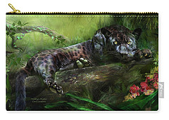 Wildeyes - Panther Carry-all Pouch by Carol Cavalaris