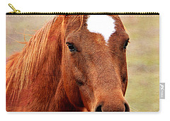 Wildfire - Equine Portrait Carry-all Pouch by Deena Stoddard