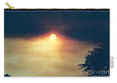 Carry-all Pouch featuring the photograph Wildfire Smoky Sky by Kerri Mortenson