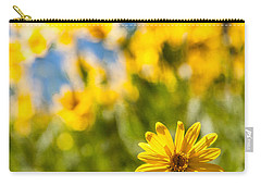 Wildflowers Standing Out Abstract Carry-all Pouch by Chad Dutson