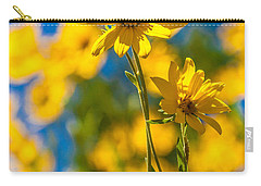 Wildflowers Standing Out Carry-all Pouch by Chad Dutson