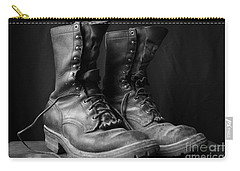 Wildland Fire Boots Still Life Carry-all Pouch by Kerri Mortenson