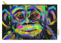 Wildlife Baby Chimp Carry-all Pouch by Go Van Kampen