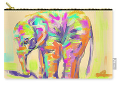 Wildlife Baby Elephant Carry-all Pouch by Go Van Kampen