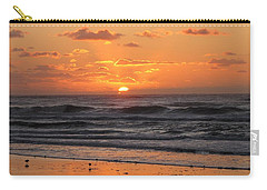 Wildwood Beach Here Comes The Sun Carry-all Pouch by David Dehner