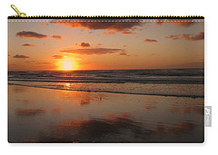 Wildwood Beach Sunrise Carry-all Pouch by David Dehner