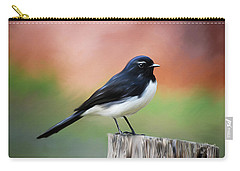 Willy Wagtail Austalian Bird Painting Carry-all Pouch