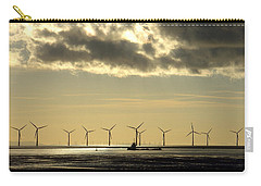 Wind Farm At Sunset Carry-all Pouch