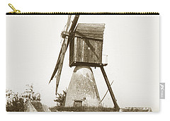 Carry-all Pouch featuring the photograph Wind Mill In France 1900 Historical Photo by California Views Mr Pat Hathaway Archives