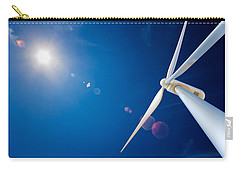 Wind Turbine And Sun  Carry-all Pouch