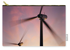 Wind Turbine Blades Spinning At Sunset Carry-all Pouch