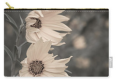 Windblown Wild Sunflowers Carry-all Pouch