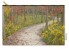 Carry-all Pouch featuring the photograph Winding Woods Walk by Ann Horn