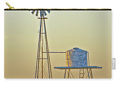 Windmill At Dawn 2011 Carry-all Pouch by Allen Sheffield