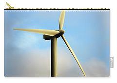 Windmill Dark Blue Sky Carry-all Pouch