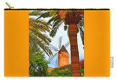 Carry-all Pouch featuring the painting Windmill In Palma De Mallorca by Deborah Boyd
