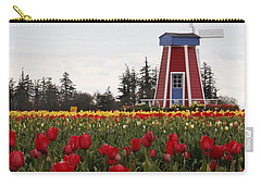 Windmill Red Tulips Carry-all Pouch by Athena Mckinzie