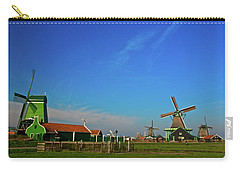 Windmills At Zaanse Schans Carry-all Pouch by Jonah  Anderson