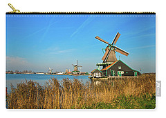 Windmills On De Zaan Carry-all Pouch by Jonah  Anderson