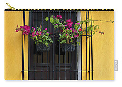 Window At Old Antigua Guatemala Carry-all Pouch
