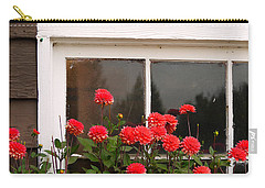 Carry-all Pouch featuring the photograph Window Box Delight by Jordan Blackstone