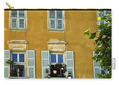 Carry-all Pouch featuring the photograph Windowboxes In Nice France by Allen Sheffield