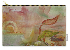 Carry-all Pouch featuring the painting Windswept by Robin Maria Pedrero