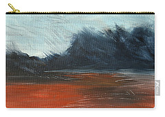 Carry-all Pouch featuring the painting Windy Beach by Jani Freimann