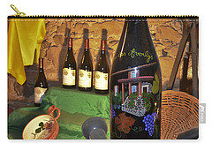 Wine Bottle On Display Carry-all Pouch