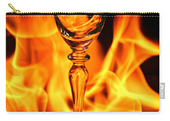 Wine Glass On Fire Carry-all Pouch