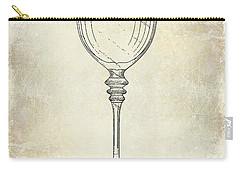 Wine Glass Patent Drawing Carry-all Pouch