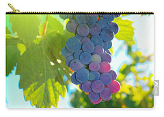 Wine Grapes  Carry-all Pouch by Jeff Swan