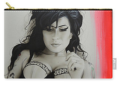 Amy Winehouse - ' Winehouse ' Carry-all Pouch by Christian Chapman Art