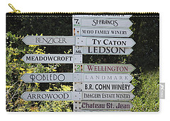 Winery Street Sign In The Sonoma California Wine Country 5d24601 Square Carry-all Pouch