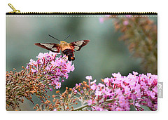 Carry-all Pouch featuring the photograph Wings In The Flowers by Kerri Farley