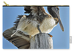 Wings Of A Pelican Carry-all Pouch by Susan Wiedmann