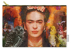 Wings Of Frida Carry-all Pouch by Mo T