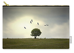 Wings Over The Tree Carry-all Pouch by Alfio Finocchiaro