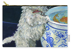 Winnie The Koi Watcher Carry-all Pouch by Kimberly McSparran