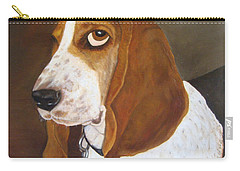 Carry-all Pouch featuring the painting Winston by Karen Zuk Rosenblatt