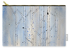 Winter Abstract Carry-all Pouch by Rebecca Davis